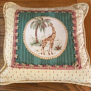Other - Accent pillow with giraffe.